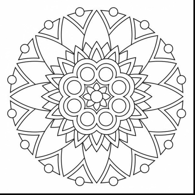 Mandala Coloring Pages Printable Simple Mandala Coloring Pages At Getcolorings Free Printable