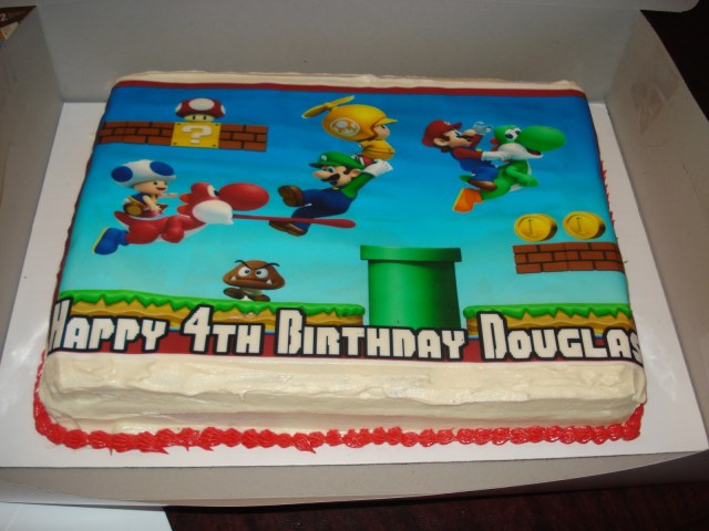 Mario Bros Birthday Cake C B Creations Super Mario Bros 4th Birthday