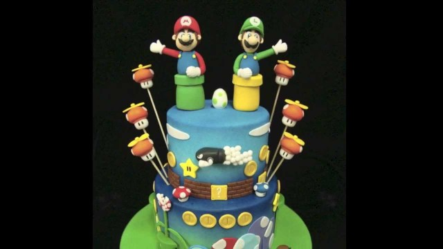 Mario Bros Birthday Cake Mario Bros Birthday Cake Youtube