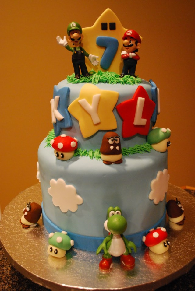 Fine 32 Brilliant Photo Of Mario Bros Birthday Cake Birijus Com Personalised Birthday Cards Veneteletsinfo