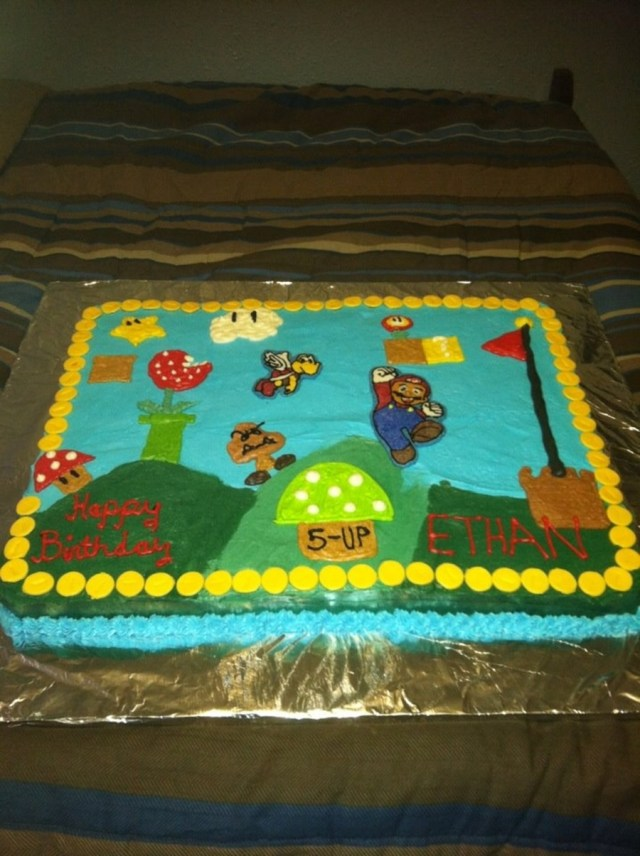 Mario Bros Birthday Cake Super Mario Bros Birthday Cake Cakecentral