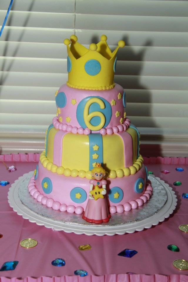 Mario Bros Birthday Cake Super Mario Bros Princess Peach Crown Birthday Cake Cakecentral