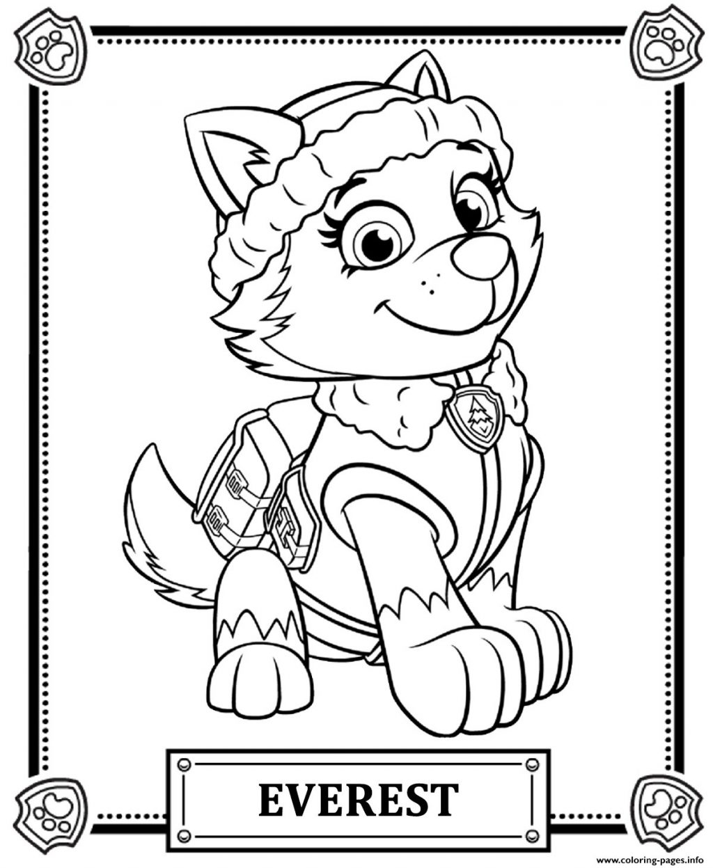 image about Printable Paw Patrol Coloring Pages titled Marshall Paw Patrol Coloring Web site Coloring Internet pages Paw Patrol