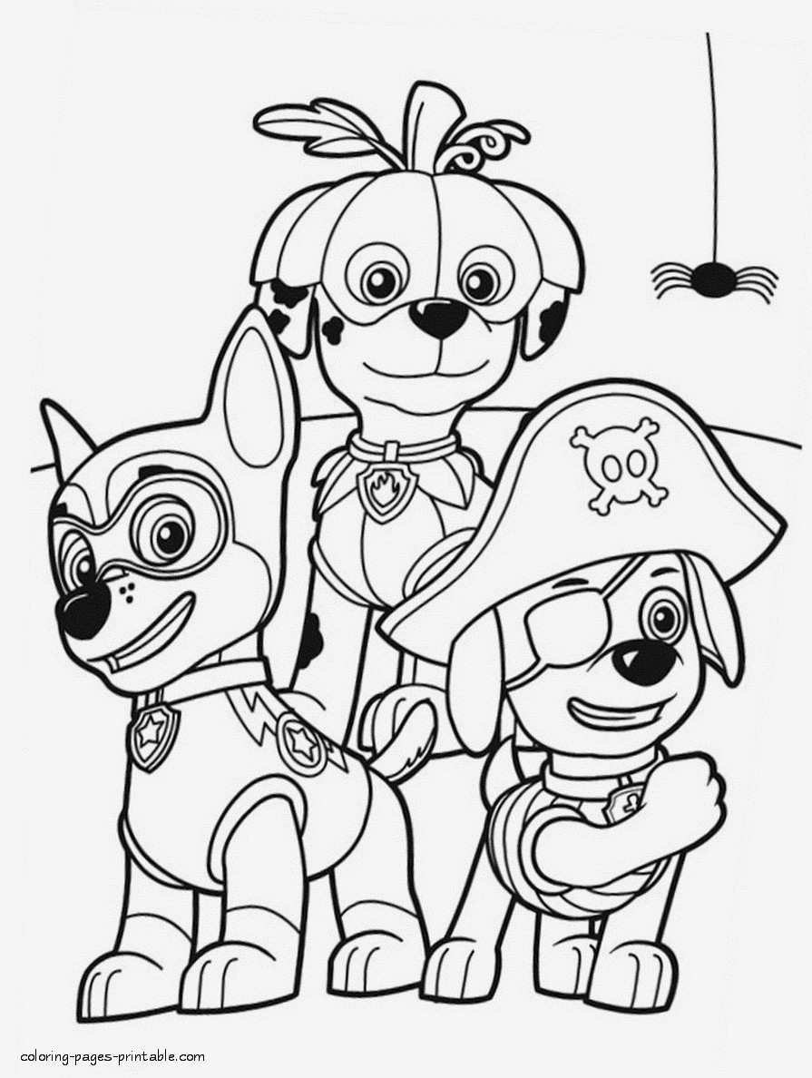 Paw Patrol Marshall Fire Truck | Coloring Pages - YouTube | 1188x895