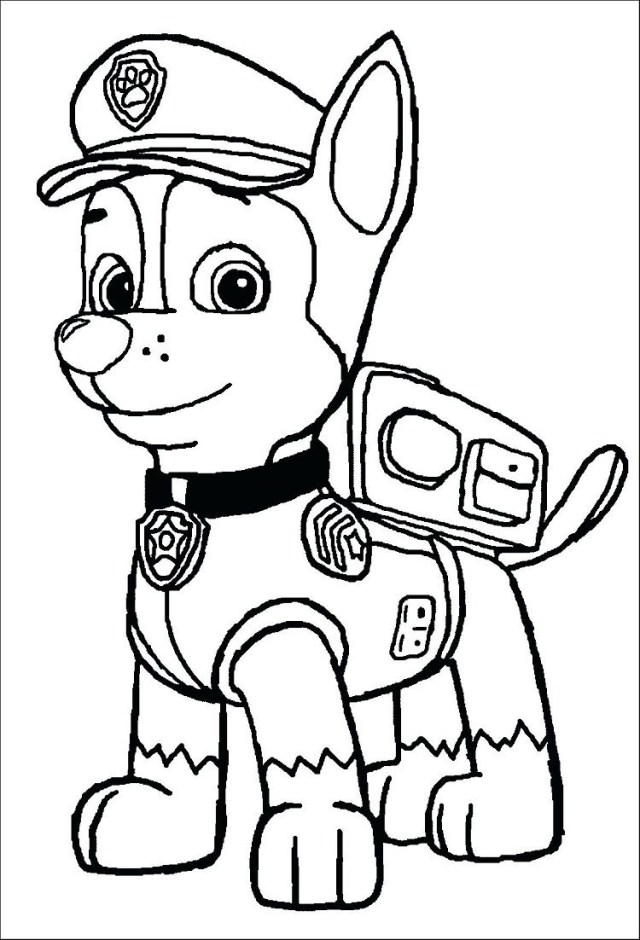 23+ Amazing Image of Marshall Paw Patrol Coloring Page ...