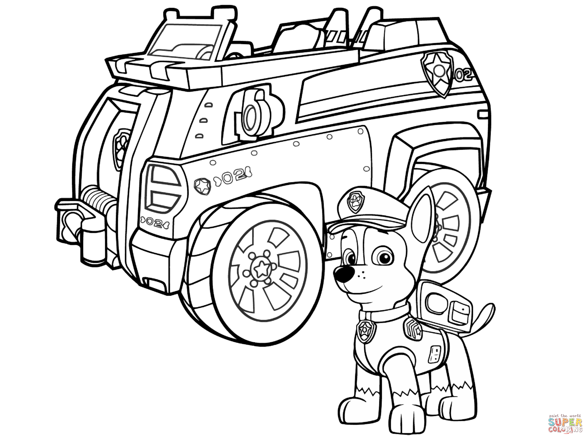 Marshall Paw Patrol Coloring Page Paw Patrol Coloring ...