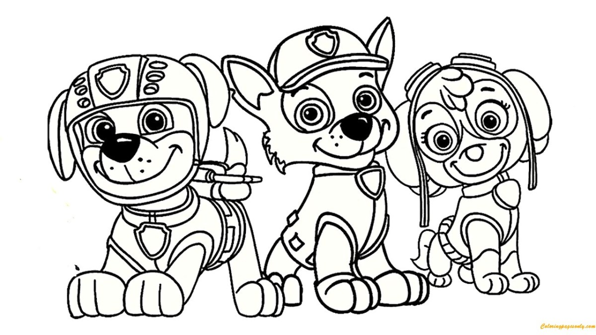 Marshall Paw Patrol Coloring Page Paw Patrol Coloring Pages ...