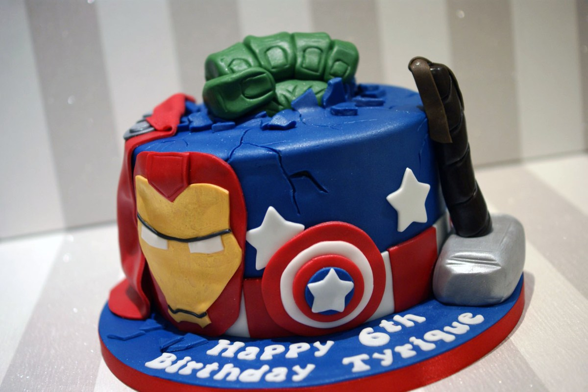 Marvelous Marvel Birthday Cakes Avengers Birthday Cake Bakealous Birijus Com Funny Birthday Cards Online Drosicarndamsfinfo