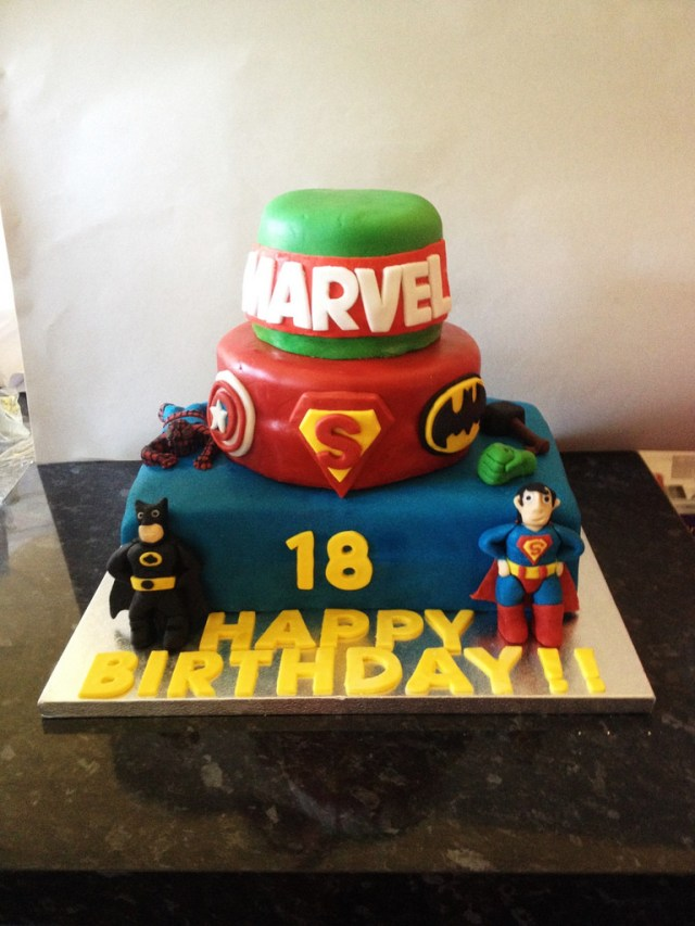 Marvel Birthday Cakes Marvel Birthday Cake Marvel Themed Birthday Cake For My Co Flickr