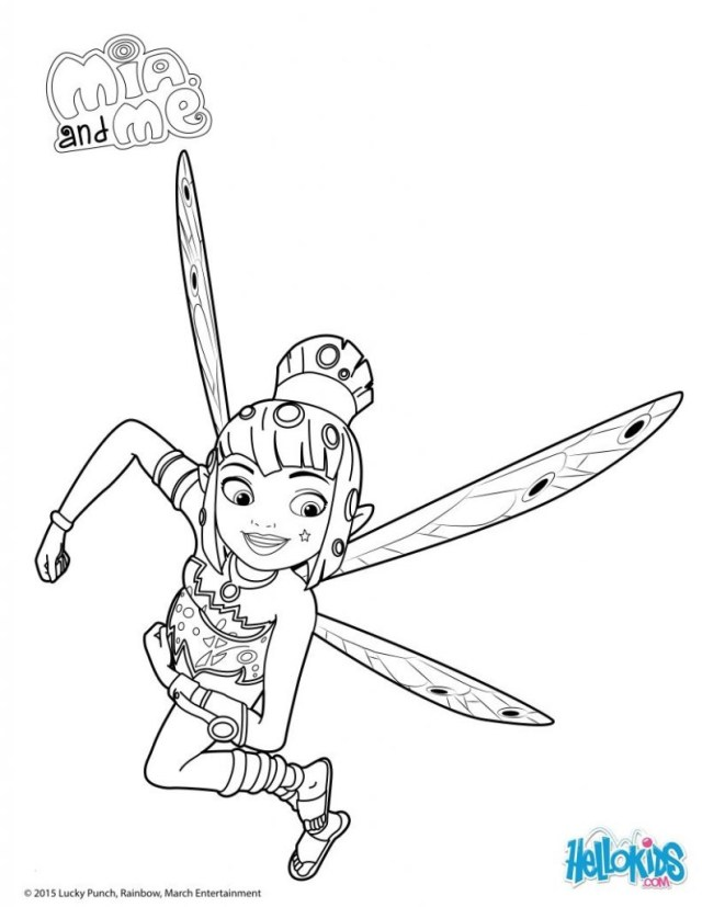 Mia And Me Coloring Pages Competitive Mia And Me Coloring Pages To Print Und Onchao