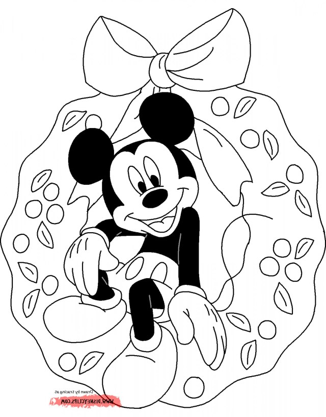 Mickey Mouse Coloring Pages Christmas Mickey Mouse Coloring Pages C Soidergi