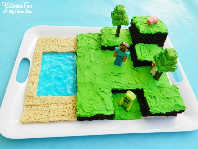 Minecraft Birthday Cake Easy Minecraft Birthday Party Cake Kitchen Fun With My 3 Sons