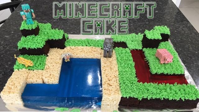 Minecraft Birthday Cake Minecraft Birthday Cake Youtube