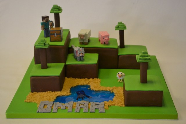 Minecraft Birthday Cake Minecraft Island Cake Boys Birthday Cakes Celebration Cakes