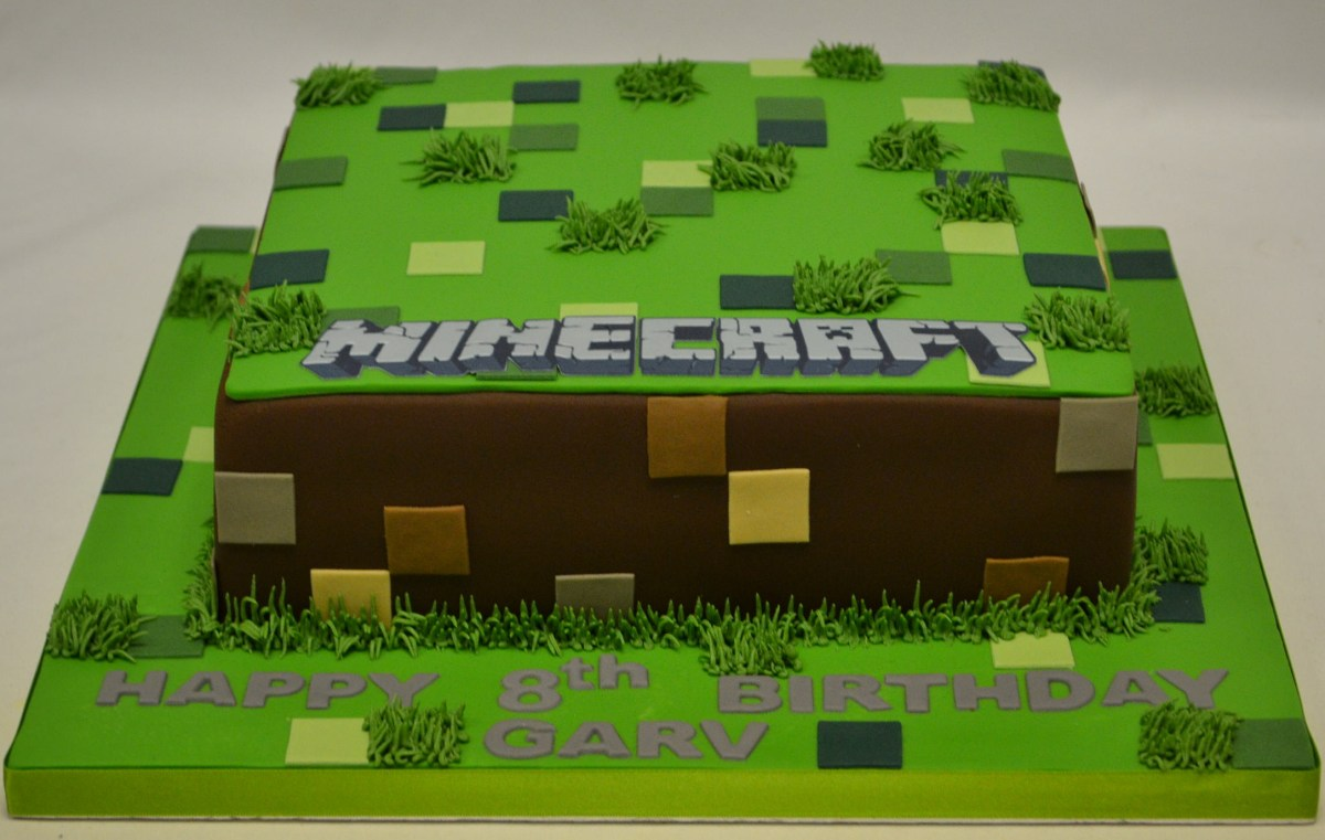 Amazing Minecraft Birthday Cake Square Minecraft Cake Boys Birthday Cakes Funny Birthday Cards Online Fluifree Goldxyz