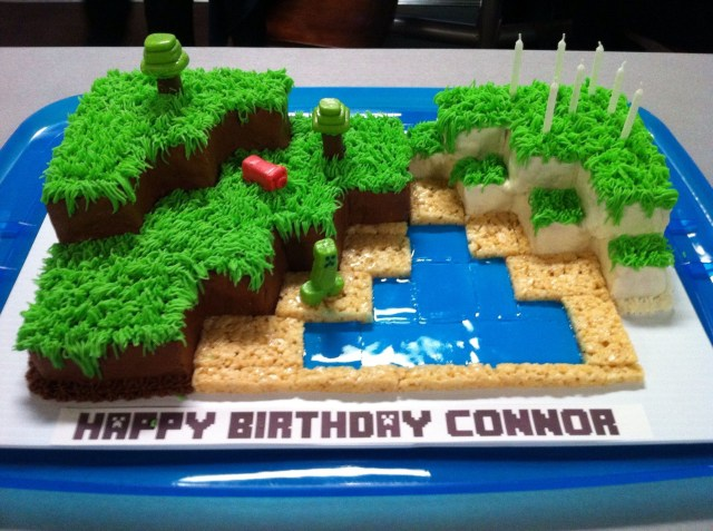 Minecraft Birthday Cakes Connors 7th Birthday Minecraft Cakepart Chocolate Part