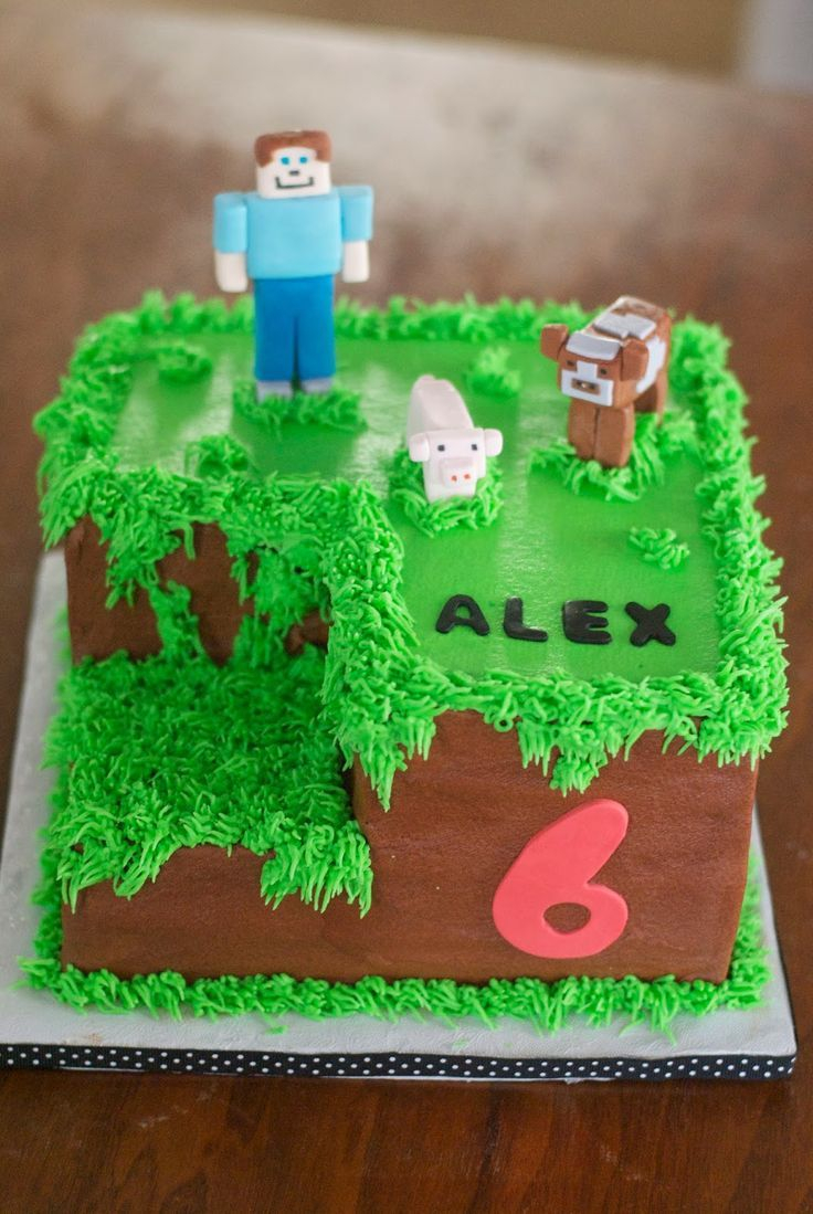Admirable Minecraft Birthday Cakes Minecraft Birthday Cake Ideas For Boys Funny Birthday Cards Online Fluifree Goldxyz