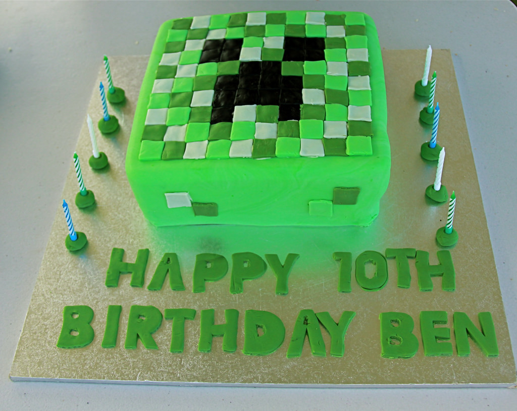 Tremendous Minecraft Birthday Cakes Minecraft Birthday Cake My Son Requested Personalised Birthday Cards Paralily Jamesorg