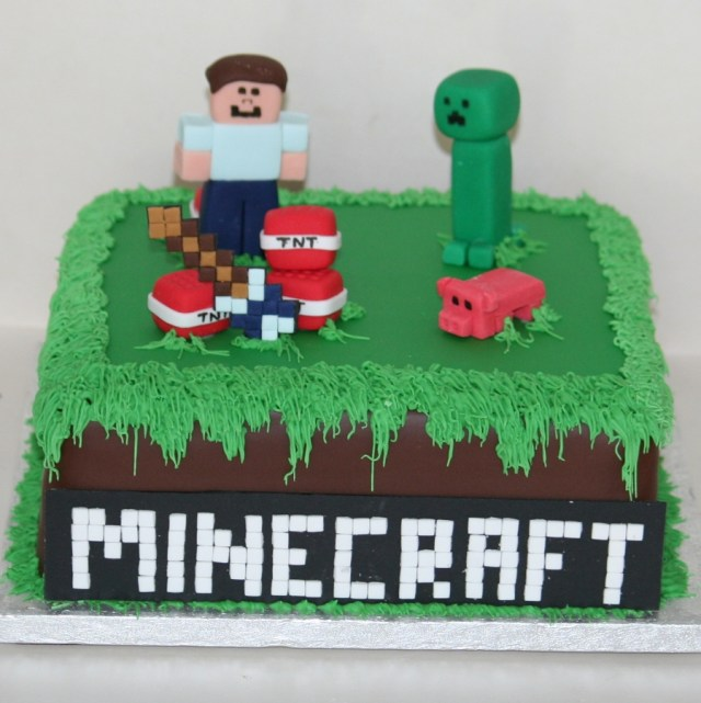 Minecraft Birthday Cakes Minecraft Cake With Steve