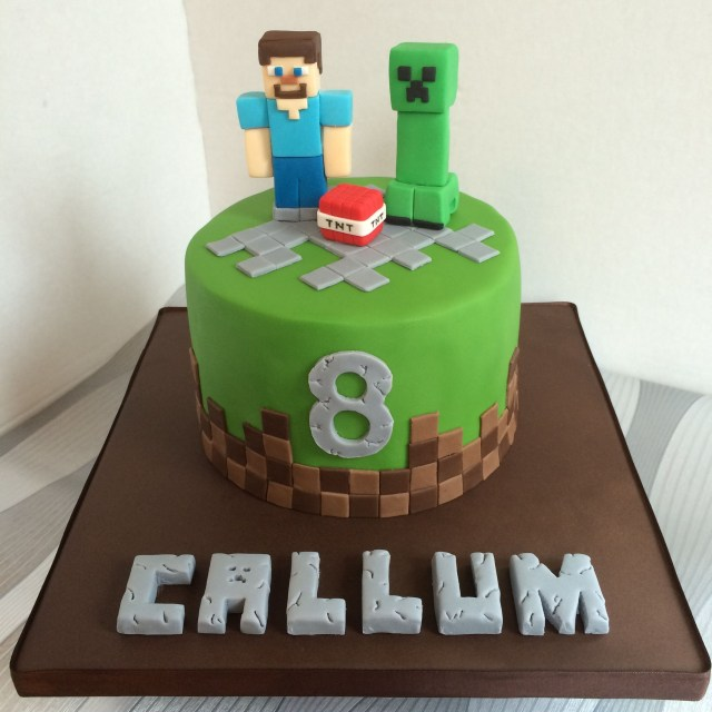 Minecraft Birthday Cakes Small Minecraft Birthday Cake With Steve And Creeper Cake Ideas