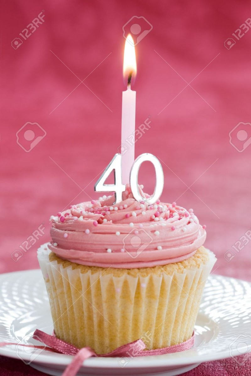 Sensational Mini Birthday Cake Mini Fortieth Birthday Cake Stock Photo Picture Funny Birthday Cards Online Sheoxdamsfinfo