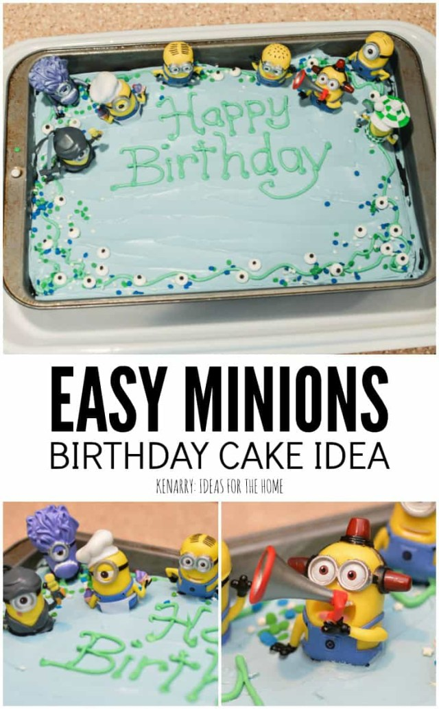 Minion Birthday Cake Images Minions Birthday Cake An Easy Despicable Me Party Idea
