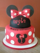 Minnie Mouse Birthday Cakes Minnie 1st Birthday Cake And Cupcakes For A Minnie Mouse Themed 1st