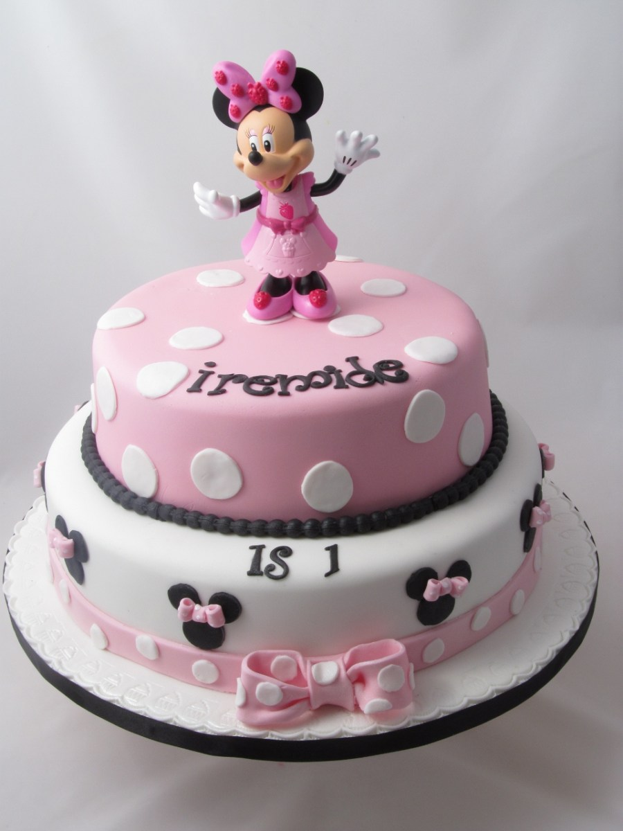 Stupendous Minnie Mouse Birthday Cakes Minnie Mouse Cakes Decoration Ideas Personalised Birthday Cards Veneteletsinfo