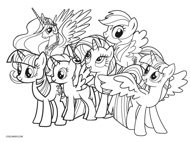 Mlp Coloring Pages Free Printable My Little Pony Coloring Pages For Kids Cool2bkids