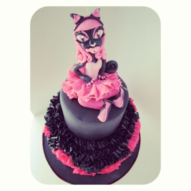 Monster High Birthday Cakes Catty Noir 6th Cake Cakecentral