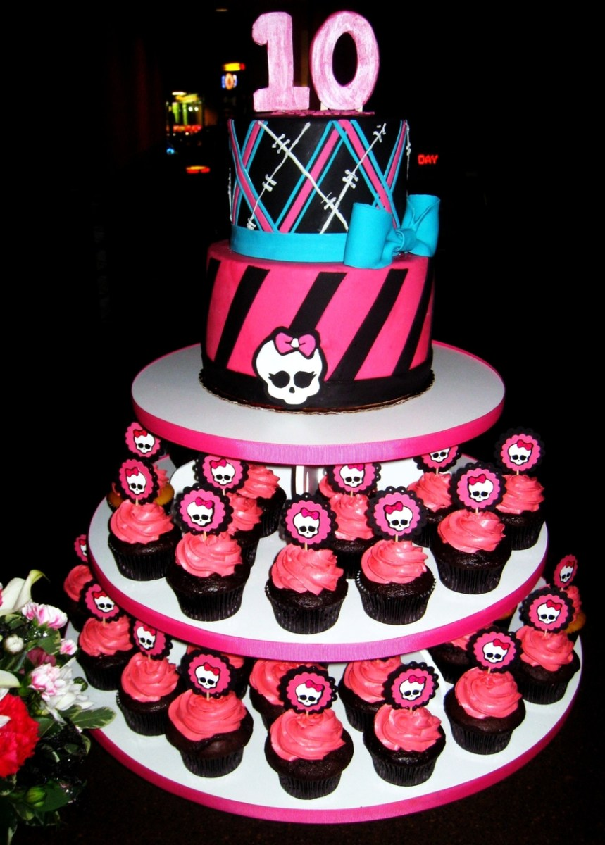 Awe Inspiring Monster High Birthday Cakes Monster High Cake Cupcakes Cakecentral Funny Birthday Cards Online Fluifree Goldxyz