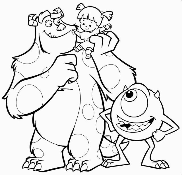 Monster Inc Coloring Pages Best Monsters Inc Coloring Pages S For Monster Coloring Book