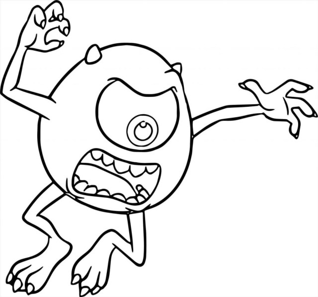 Monster Inc Coloring Pages Monsters Inc Coloring Pages Mike Pinterest Within University