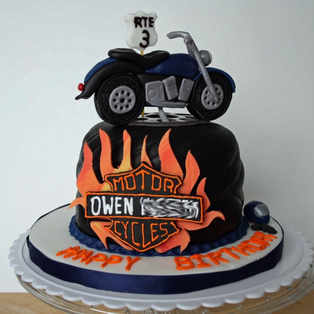 Motorcycle Birthday Cake All Kinds Of Sugar Motorcycle Birthday Cake