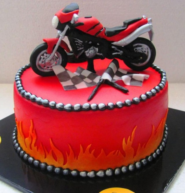 Super 25 Best Photo Of Motorcycle Birthday Cake Birijus Com Funny Birthday Cards Online Overcheapnameinfo