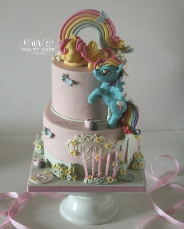 My Little Pony Birthday Cake My Little Pony Themed 5th Birthday Cake For A Princess White