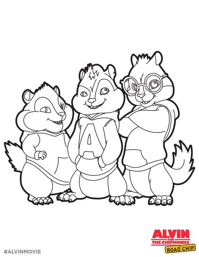 Nickelodeon Coloring Pages Colorings Alvin And The Chipmunks Kids Nickelodeon Colouring Free