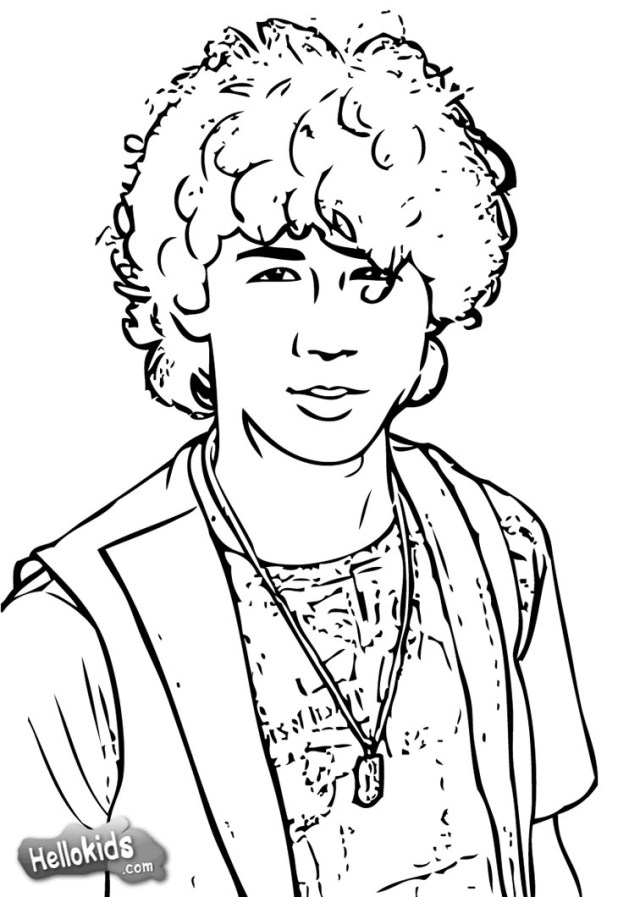 Nickelodeon Coloring Pages Nick Jonas Coloring Pages Hellokids Com And Nickelodeon Color