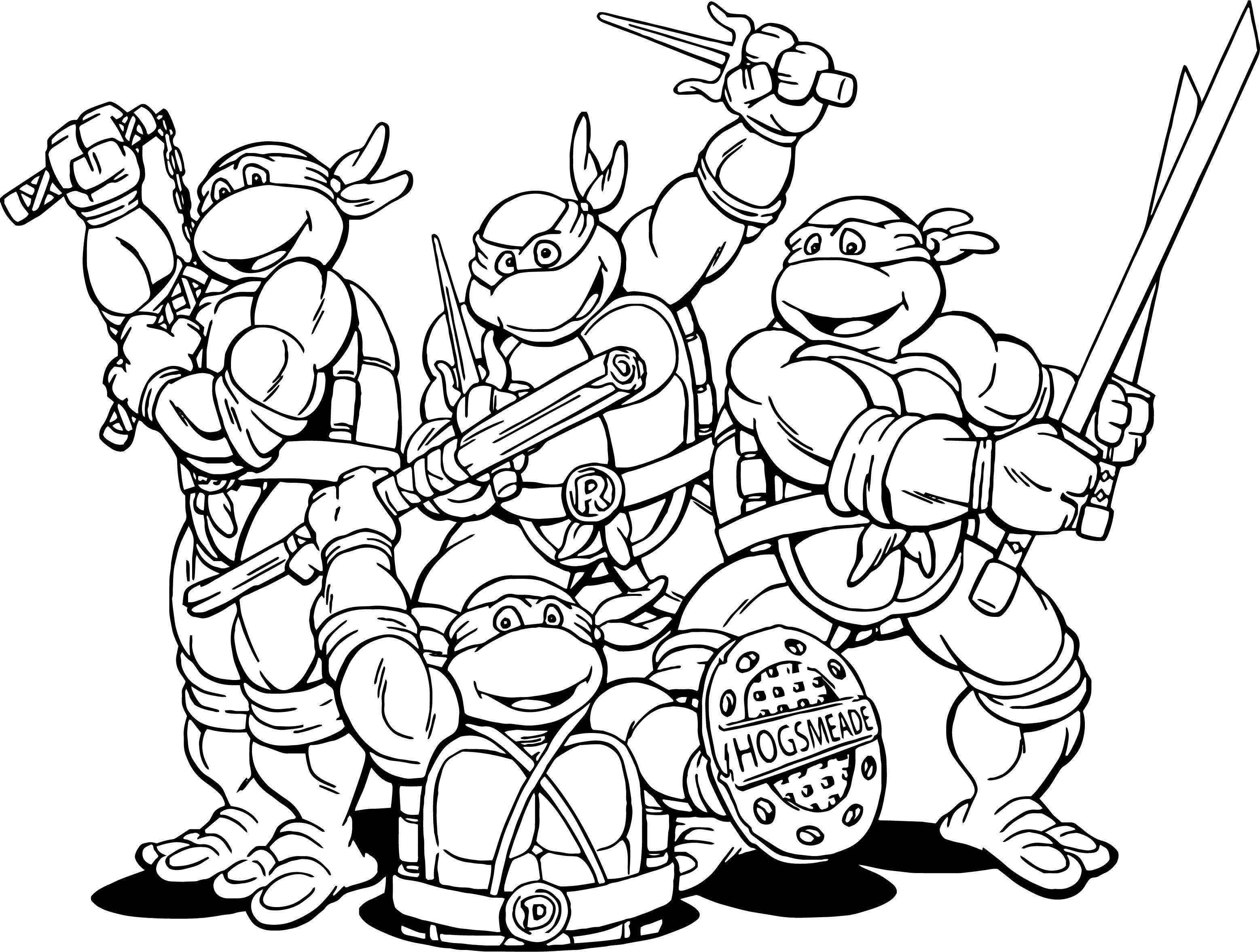 - Ninja Turtles Coloring Pages Teenage Mutant Ninja Turtles Cartoon