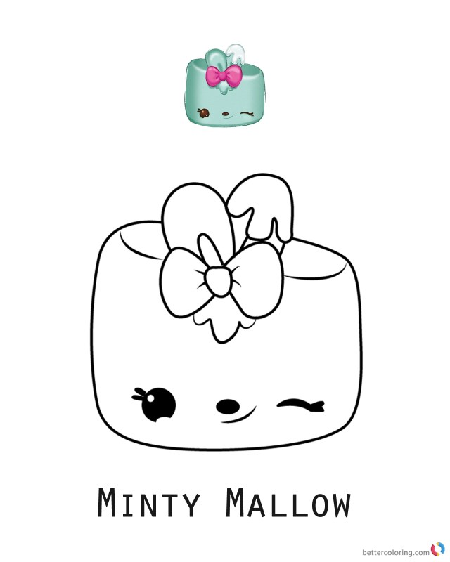 Num Nom Coloring Pages Minty Mallow Num Noms Coloring Pages Series 3 Free Printable