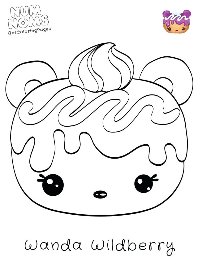 Num Nom Coloring Pages Num Noms Coloring Pages Series 3 Great Free Clipart Silhouette Cute