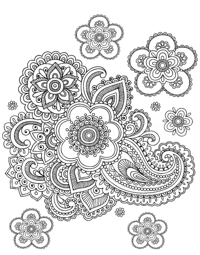 Paisley Coloring Pages Free Coloring Page Coloring Adult Paisley Difficult Difficult Fun Time