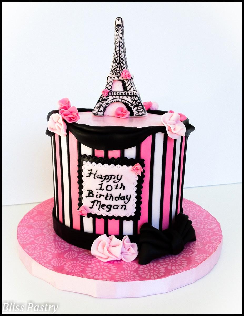 Amazing Paris Themed Birthday Cake 12 Purple Birthday Cakes Paris Photo Birthday Cards Printable Opercafe Filternl