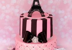 Paris Themed Birthday Cake Parisian Theme Cake Pariscake Eiffeltower Pinkandblack Paris