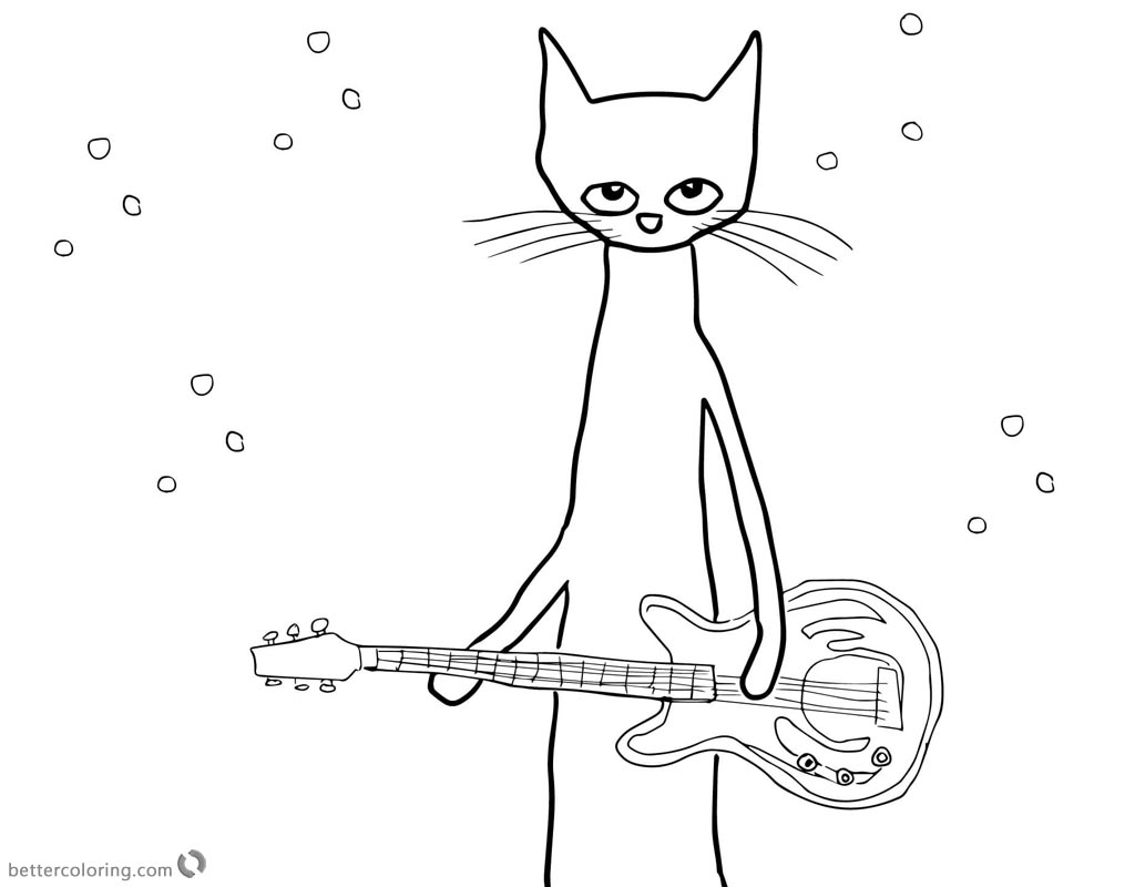 Pete The Cat Coloring Page Pete The Cat Coloring Pages Rocking Star Free Printable Coloring Pages Birijus Com