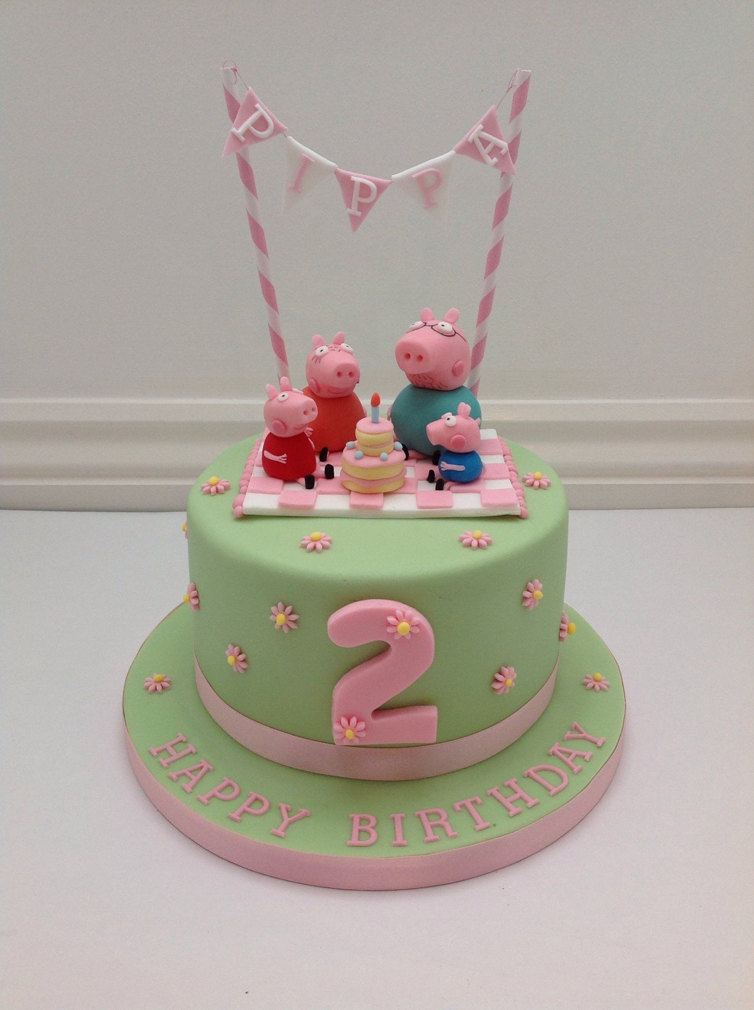 Groovy Pig Birthday Cake A Peppa Pig Picnic And Bunting Cake Fancy Funny Birthday Cards Online Aboleapandamsfinfo