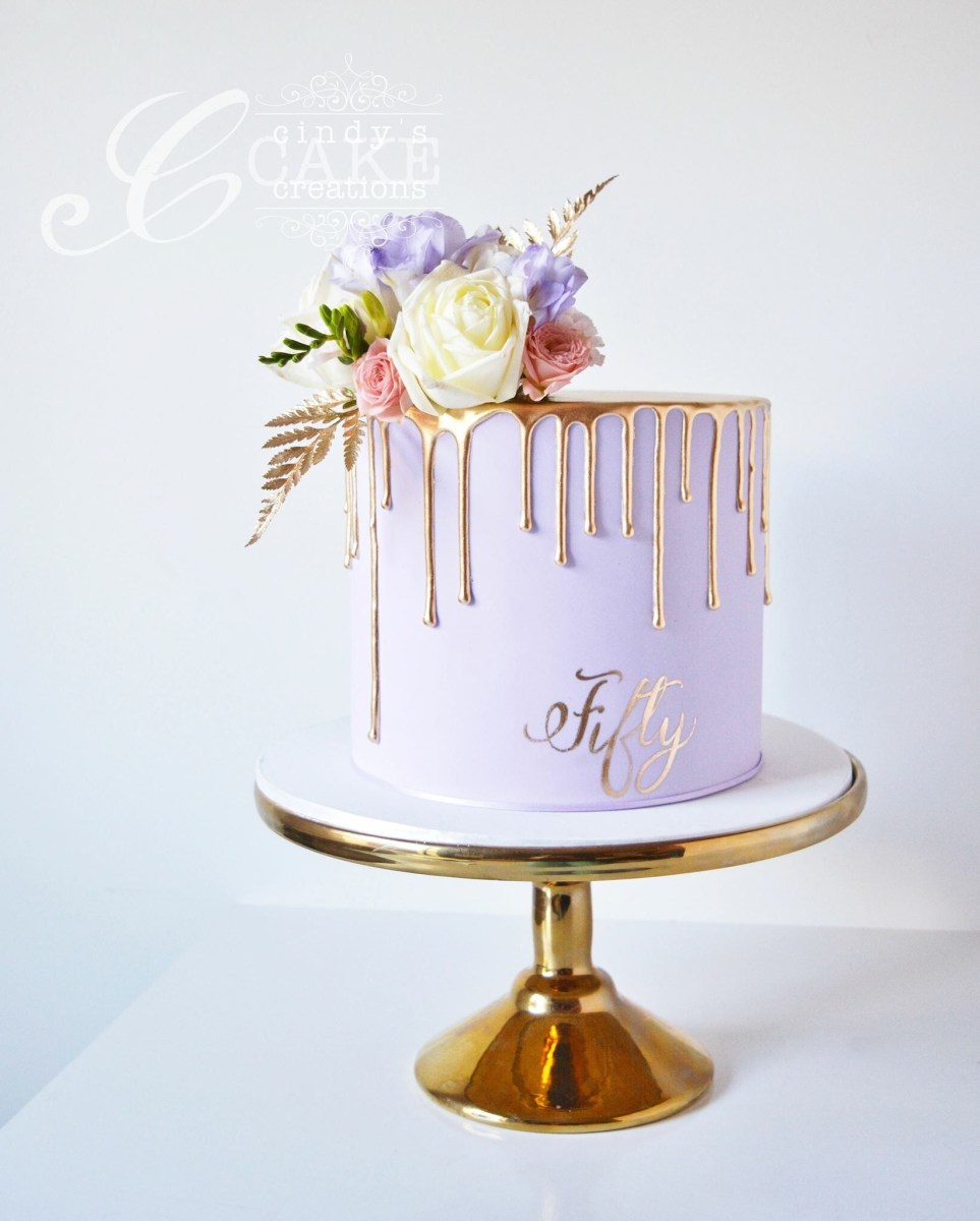 Wondrous Pinterest Birthday Cakes Gold Drip Cake 50Th Birthday Cake Torte Funny Birthday Cards Online Alyptdamsfinfo