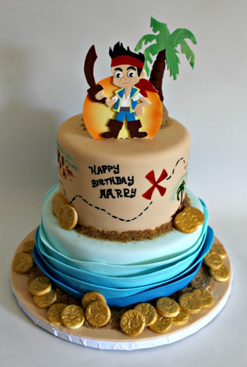 Peachy Pirate Birthday Cake Lil Miss Cakes Page 4 Jake And The Neverland Funny Birthday Cards Online Inifodamsfinfo