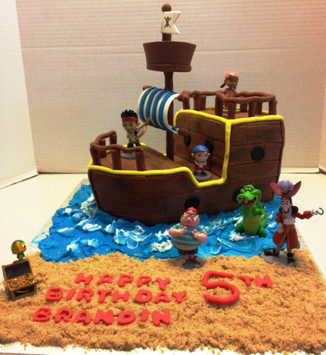 Sensational Pirate Birthday Cake Picture Of Jake And The Neverland Pirates Funny Birthday Cards Online Alyptdamsfinfo