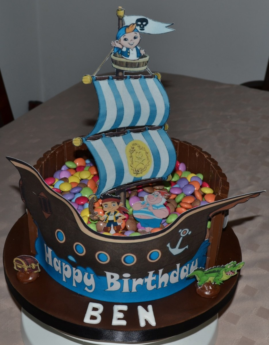 Outstanding Pirate Birthday Cake Pirates Birthday Cakes Birijus Com Funny Birthday Cards Online Alyptdamsfinfo